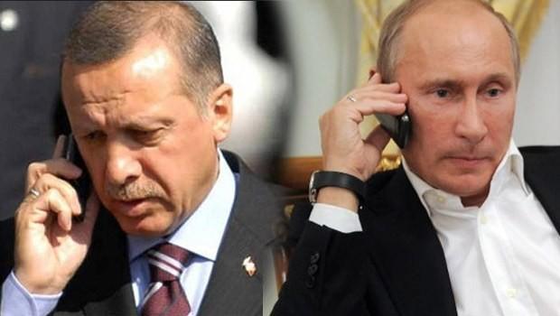 Erdoğan'dan Putin'e gece yarısı Suriye telefonu
