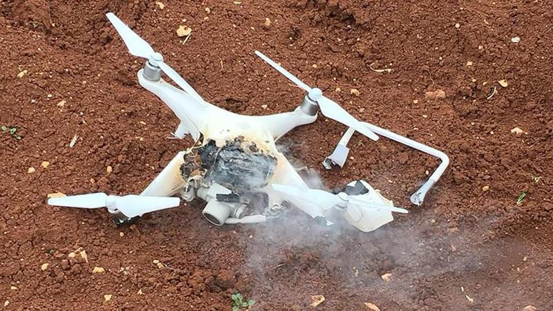 Afrin'de teröristlerin kullandığı 'drone' düşürüldü