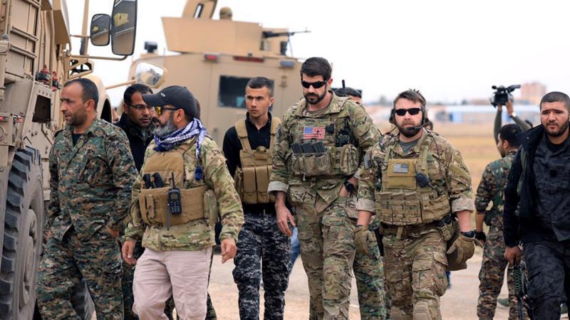 ABD askerleri Türkiye sınırında PKK'lılarla devriye geziyor