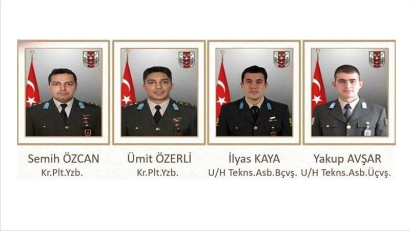 Şehit askerlerimizin isimleri belli oldu