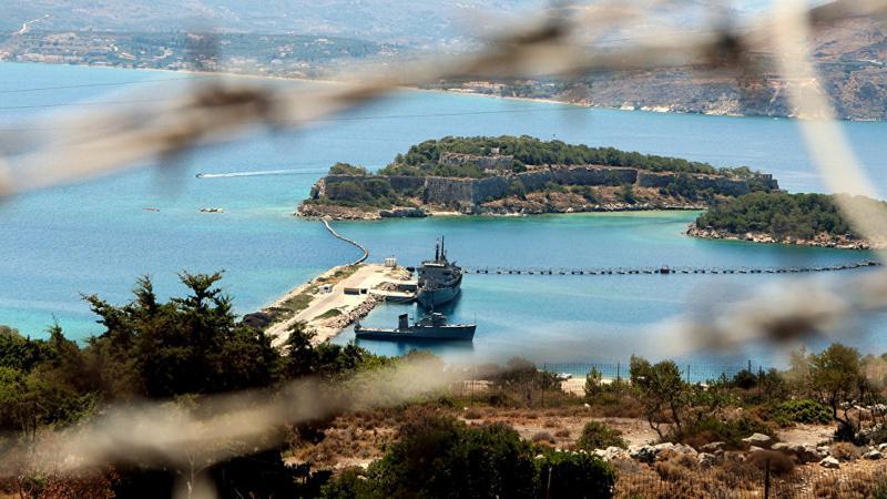 Yunanistan'ın Girit'te durduğu gemide patlayıcı çıktı