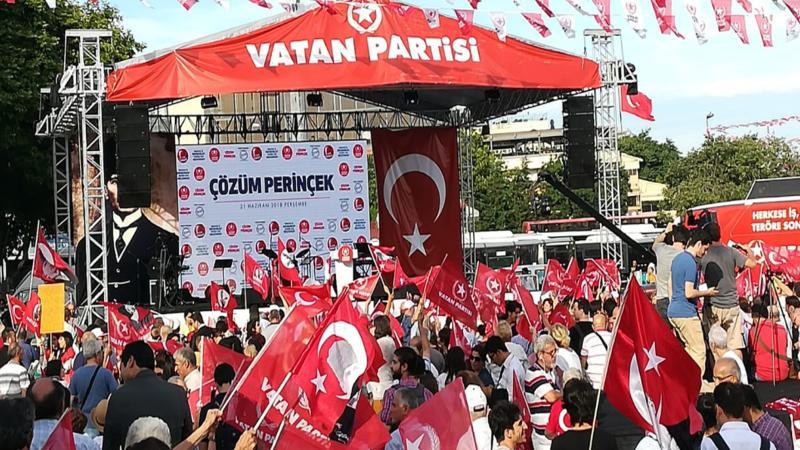 Perinçek İstanbul mitinginde konuştu: Türkiye'nin başına Atatürk geliyor!