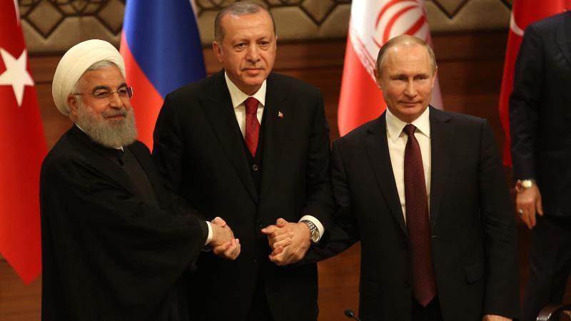 Türkiye-İran-Rusya liderlerinden ortak vurgu: Suriye bütündür!