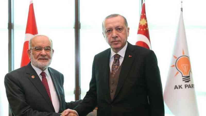 Erdoğan ile Karamollaoğlu görüştü