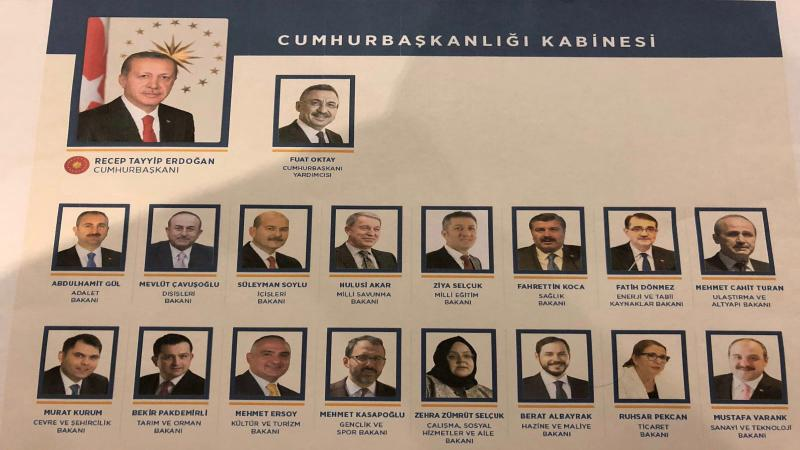 Cumhurbaşkanı Erdoğan yeni kabineyi açıkladı!