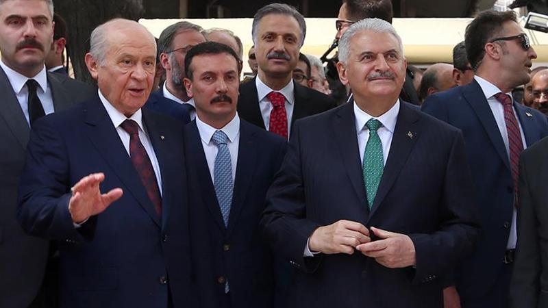 Yıldırım ve Bahçeli, Erdoğan için YSK'ya birlikte başvurdu