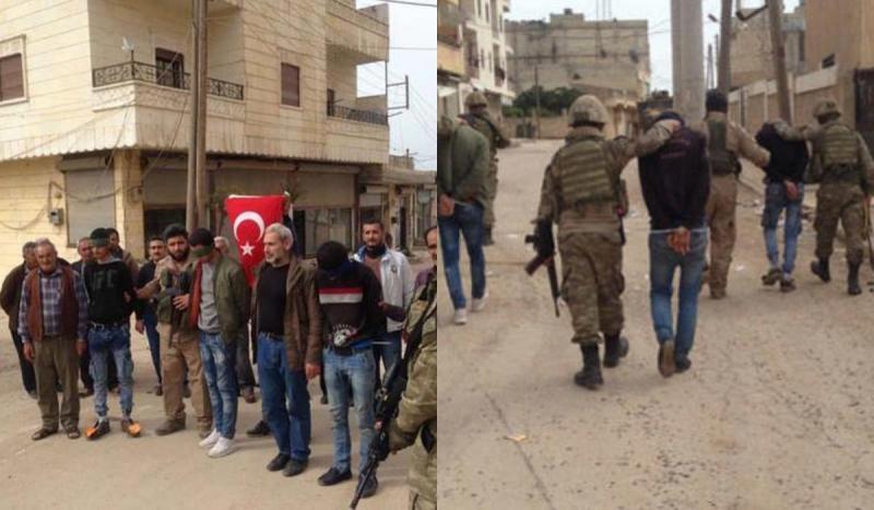 Afrin halkı 18 teröristi askerlere teslim etti