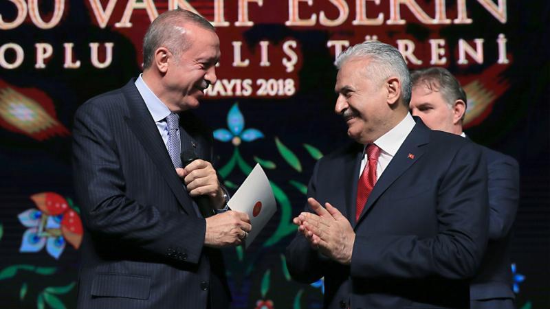 Erdoğan, Binali Yıldırım'a Devlet Şeref Madalyası takacak