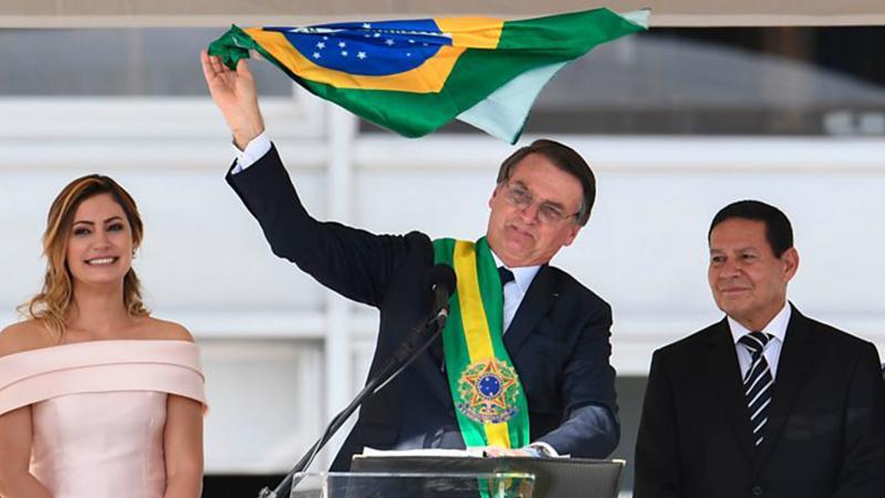 Bolsonaro'nun sosyalizm yeminine Trump'tan destek