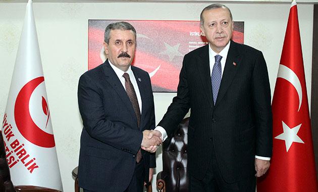 Erdoğan, BBP Genel Başkanı Mustafa Destici'yi ziyaret etti
