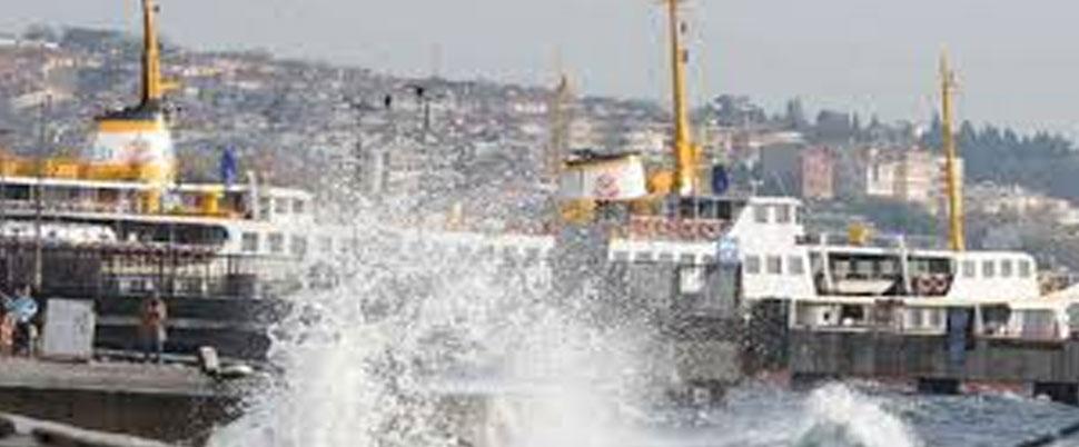 Deniz ulaşımına lodos engeli: İDO 22, BUDO 16 seferini iptal etti