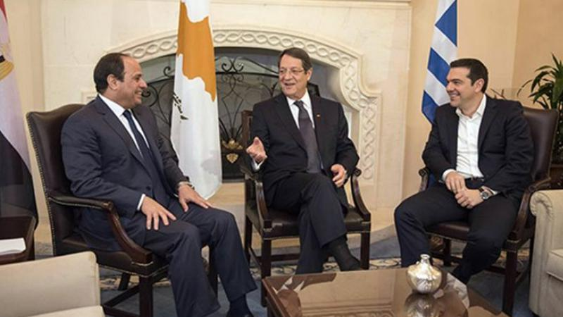 Doğu Akdeniz'de Türkiye'ye karşı üçlü zirve